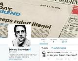 P�gina de Twitter de l'exanalista de la NSA Edward Snowden.