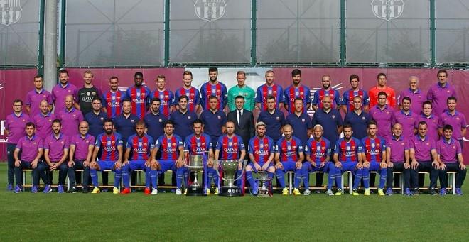La plantilla del FC Barcelona 2016-17.