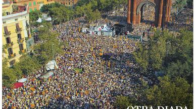 """La premsa de Madrid """"desinfla"""" la Diada, però exigeix unitat per combatre el sobiranisme"""