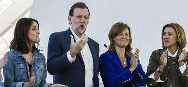 Rajoy, en el acto de precampa�a de Valencia.