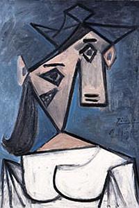 La obra de Picasso 'Cabeza de Mujer' que figura en el catálogo de la Galería Nacional de Atenas.