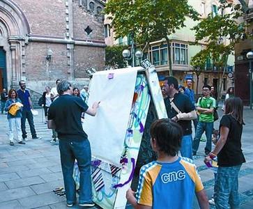 Exhibició artística a l'aire lliure, la passada edició.