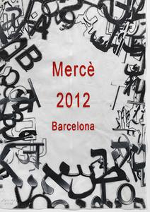 El cartel diseñado por Jaume Plensa para la Mercè 2012.