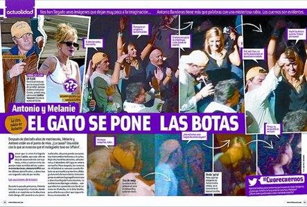 'Cuore' muestra las fotos de Banderas y la desconocida rubia en una disco de Cancn.