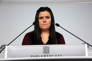 Isabel Vallet declara al ple del Parlament