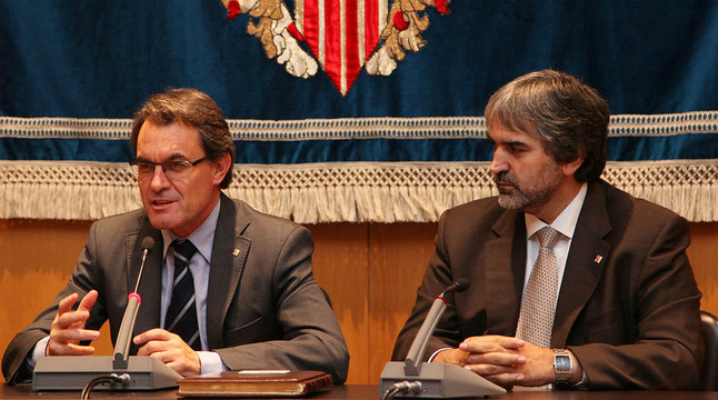 El 'president' de la Generalitat, Artur Mas, con Joaquim Nin, en noviembre del 2011.