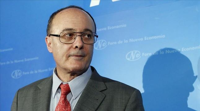Luis Linde, durante su intervención el el Nueva Economía Fórum.