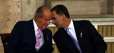 Juan Carlos y Felipe, el d�a en que el primero abdic� como rey de Espa�a, el pasado 18 de junio.