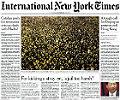 La suspensi�n de la convocatoria de la consulta del 9-N, portada en 'The New York Times'