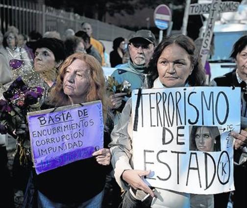 Manifestación en protesta por la muerte de Nisman.