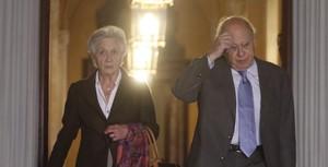 Marta Ferrusola y Jordi Pujol, en el Parlament.