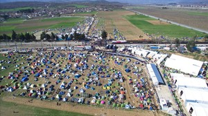Campo de refugiados de Idomeni, en la frontera entre Grecia y Macedonia.