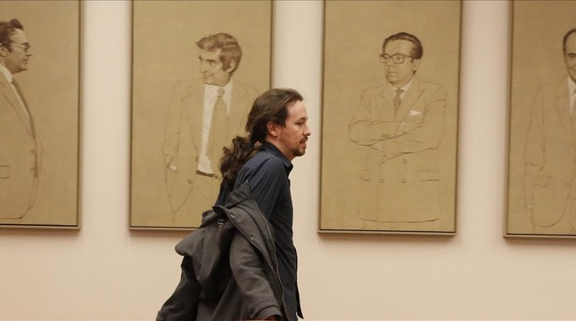 Pablo Iglesias en el Congreso de los Diputados.a de Sánchez.