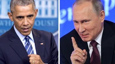 Putin i Obama; aigua i oli