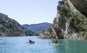 En canoa por el Congost de Mont-Rebei.