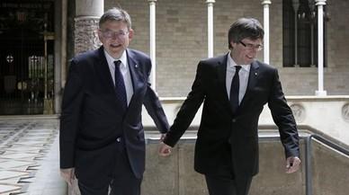 Puigdemont i Puig uneixen forces per reivindicar el corredor mediterrani