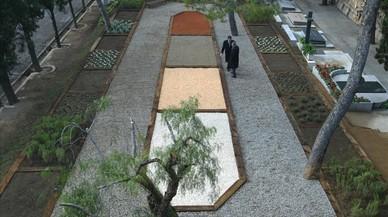 Jard�n donde esparcir las cenizas en el cementerio de Montju�c.