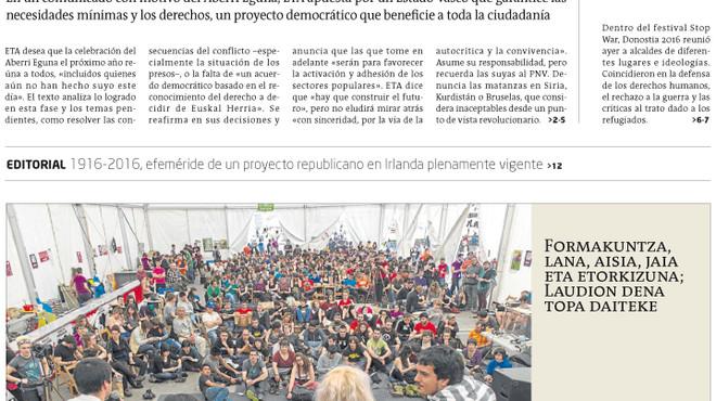 """ETA critica els atemtats de Brussel·les per matar """"sense compassió simples ciutadans"""""""