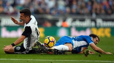 Un rácano Valencia tumba a un Espanyol brillante pero sin gol