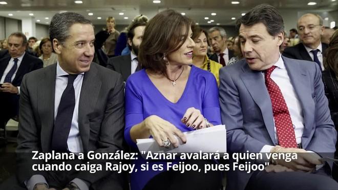 """Zaplana a González: """"Aznar avalarà qui vingui quan caigui Rajoy per distanciar-se, si és Feijóo, doncs Feijóo"""""""