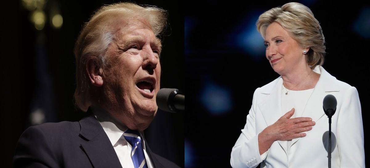 Los candidatos a la presidencia de EEUU, Donald Trump y Hillary Clinton.