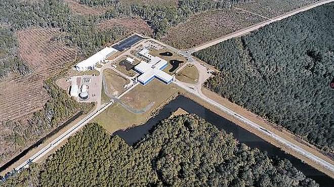 Imagen a�rea del observatorio de ondas gravitacionales LIGO en Livingston (Luisiana, EEUU).