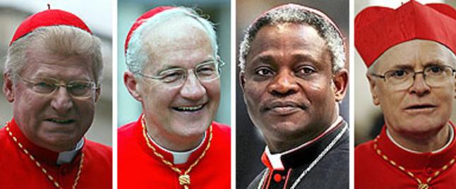 Cuatro candidatos suenan para suceder a Benedicto XVI