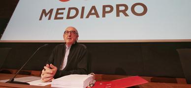 Jaume Roures, en la rueda de prensa.