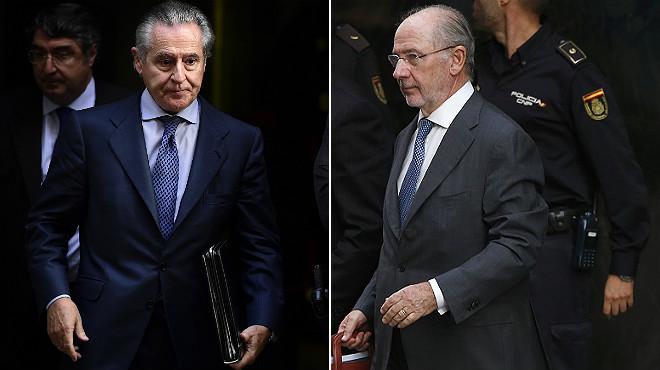Miguel Blesa, izquierda, y Rodrigo Rato.