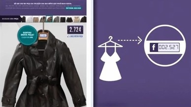 Perchas que incluyen el número de 'likes' en redes sociales de sus prendas