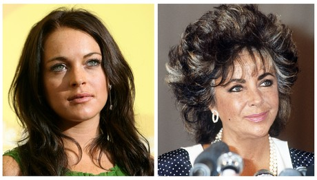 Lindsay Lohan y Elizabeth Taylor.