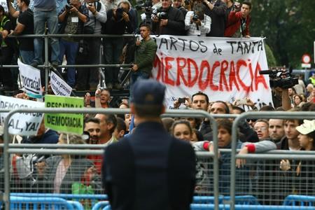 Manifestantes, durante el cerco al Congreso, el 25 de septiembre.