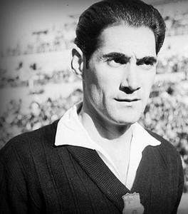 Antoni Ramallets, en su etapa como guardameta del Barça.