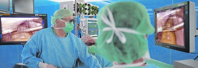 Realización de una laparoscopia en 3D en el Hospital Clínic de Barcelona.