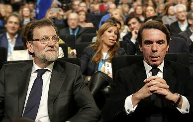 Rajoy y Aznar.