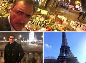 Les imatges de la polèmica, el selfie de Carlos Herrera i la dAlbert Rivera, també a París, fa un any.