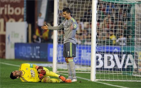 La agresión de Cristiano Ronaldo al futbolista David Simón