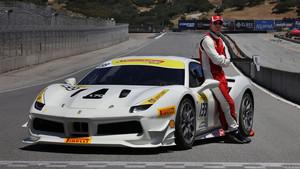 Michael Fassbender correrá con este Ferrari en Estados Unidos.
