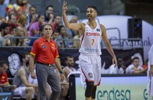 Juan Carlos Navarro, en el amistoso contra Bélgica en Tenerife
