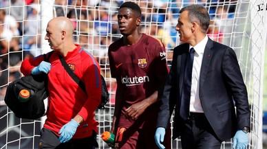 Dembélé es lesiona a Getafe als 24 minuts