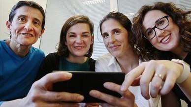 Women in Mobile. Las fundadoras: de izquierda a derecha, Celia Díaz, Cristina Campillà, Caroline Rogot y Vanessa Estorach.