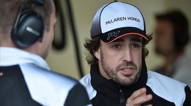 Fernando Alonso, durante el Gran Premio de Melbourne