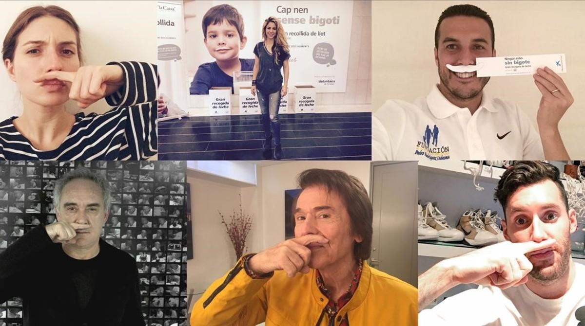 Shakira, Raphael, Adrià i Valverde se sumen a la campanya de recollida de llet