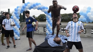 Clam monumental per Messi