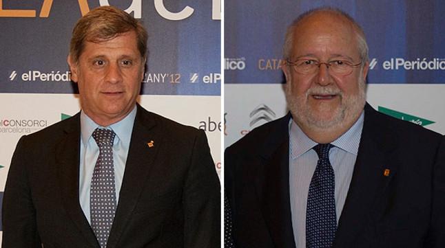 El concejal de Barcelona Alberto Fernández Díaz (izquierda) y el presidente de la Diputación, Salvador Esteve.