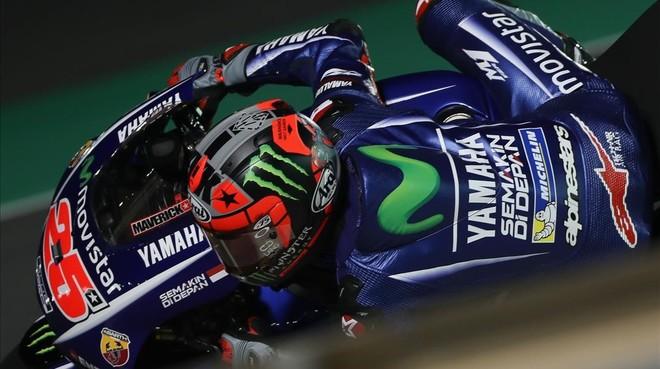 Maverick Viñales (Yamaha) ha vuelto a conseguir hoy, en Catar, el mejor tiempo.