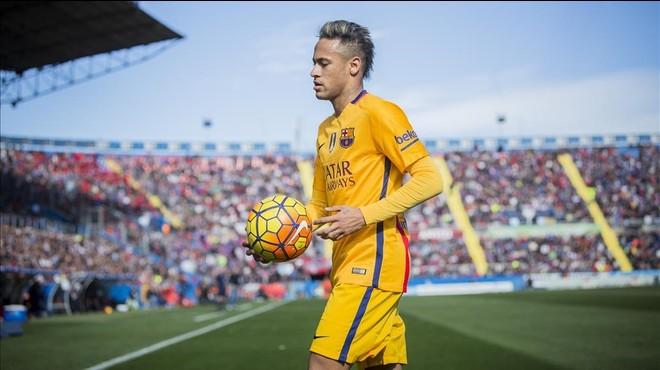 Neymar, en el partido del pasado domingo en el campo del Levante