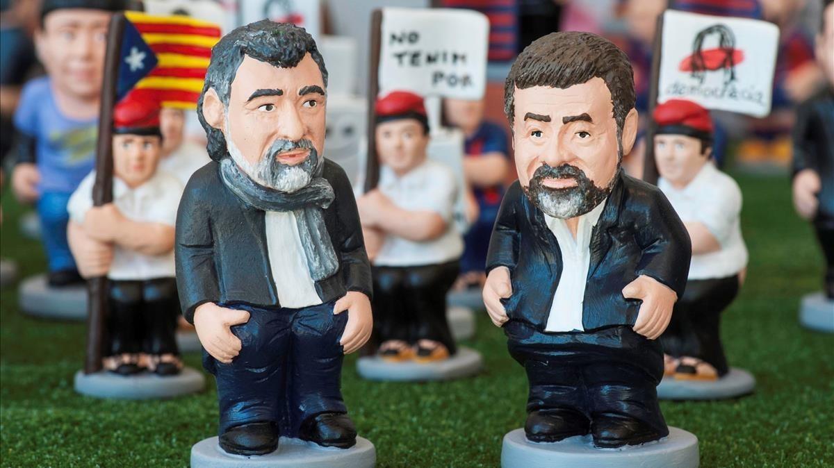 Los lideres independentistas, Jordi Cuixart y Jordi Sanchez.