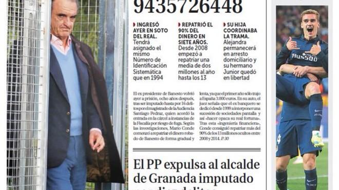 L'Aznar caçat pel fisc no hi cap a les portades dels diaris de Madrid