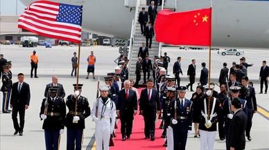 La visita del presidente chino pone a prueba la dureza de Trump
